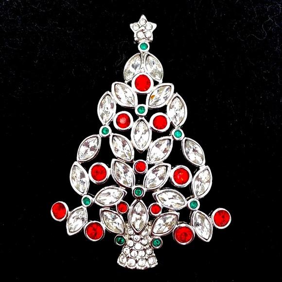 Swarovski 2002 Christmas Tree Brooch / Pin